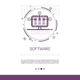 Web Design Software Development Computer Programming Device Technology Banner With Copy Space. Vector Illustration Royalty Free Stock Image