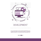 Web Design Software Development Computer Programming Device Technology Banner With Copy Space. Vector Illustration Stock Photo