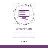 Web Design Software Development Computer Programming Device Technology Banner With Copy Space. Vector Illustration Stock Photography