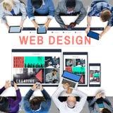 Web Design Software Technology Layout Blogging Concept Stock Photos