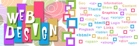 Web Design Square Colorful Royalty Free Stock Images