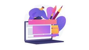 Site design 4K loop animation