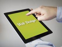 Web design sur un comprimé Photos libres de droits