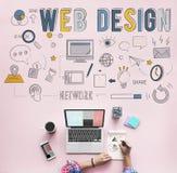 Web Design Technology Browsing Programming Concept Royalty Free Stock Photos