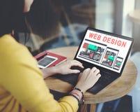Web Design Technology Browsing Programming Concept stock photo