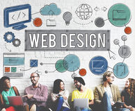 Web Design Technology Digital Illustrations Concept Stock Photos