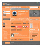 Web Design Template 13 Vector (Orange Theme) Stock Photography