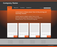 Web design template Stock Image