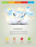 Web design template Stock Photos