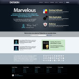 Web Design Template 8 (Dark Theme) Vector Royalty Free Stock Photos
