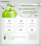 Web design template with apple Stock Photography