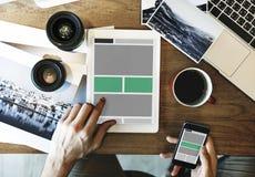 Web Design Template Copy Space Concept Royalty Free Stock Photos