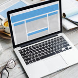 Web Design Template Copy Space Concept Stock Image