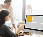 Web Design Template Copy Space Concept. Teamwork Web Designer Template Concept stock photo