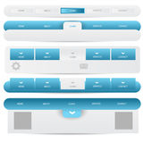 Web design template navigation elements: Navigation buttons with ornaments. Illustration of Web design template navigation elements: Navigation buttons with Royalty Free Stock Images