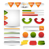 Web design template navigation elements: Navigation buttons with ornaments Stock Images