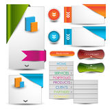 Web design template navigation elements: Navigation buttons with ornaments Stock Photo