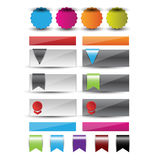 Web design template navigation elements: Navigation buttons with ornaments Royalty Free Stock Image