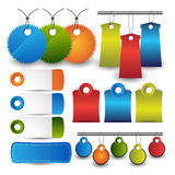 Web design template navigation selements: Navigation buttons with ornaments Stock Image