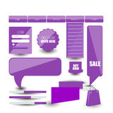 Web design template navigation selements: Navigation buttons with ornaments Stock Photo