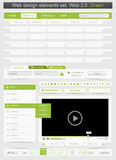 Web design template set 2.0. Stock Image