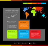 Web design template wi Royalty Free Stock Images