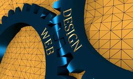 Web and Design text on the Gears. Royalty Free Stock Photos