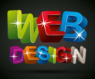 Web design. Stock Photography