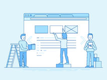 Web design and user interface development concept Stock Images