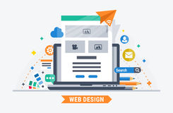 Web design vector illustration Royalty Free Stock Image