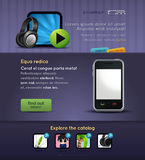 Web design vector page. Vector Web design page with lorem ipsum text. You can use this modern designs for your web projects Stock Images
