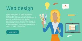 Web Design Vector Web Banner in Flat Style Stock Photos