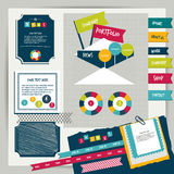 Web design vintage portfolio elements. Stock Photo