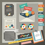 Web design vintage portfolio elements. Collection  Stock Photography