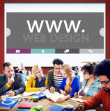Web Design Web WWW Development Internet Media Creative Concept Stock Image
