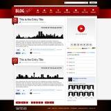 Web Design Website Element Template stock illustration