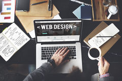 Web Design Website Homepage Ideas Programming Concept.  Royalty Free Stock Images