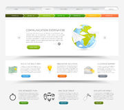 Web design website template with colorful icons Royalty Free Stock Photo
