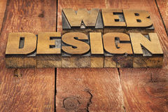 Web design in wood type Stock Image