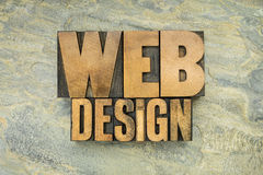 Web design in wood type Stock Photos