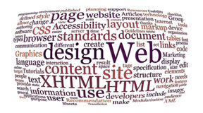 Web design word cloud Royalty Free Stock Images