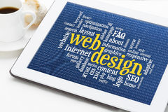Web design word cloud Stock Photo
