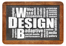 Web design word cloud Royalty Free Stock Image