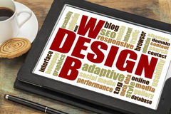 Web design word cloud Stock Photos
