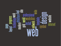 Web design word collage. Web design collage of words Royalty Free Stock Photo