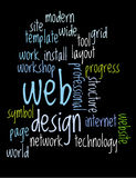 Web design word collage. Web design collage of words Royalty Free Stock Photos