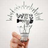 WEB DESIGN word design as concept Stock Photo
