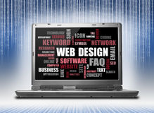 Web design word or tag cloud Stock Images