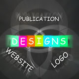 Web design Words Displays Designs for Logo Publication and Websi Stock Image