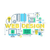 Web Design Work Process Royalty Free Stock Image